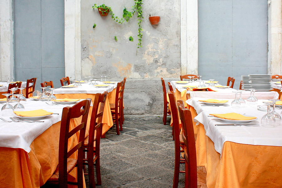 Dining Photograph - Dining Alfresco In Italy by Annie  DeMilo