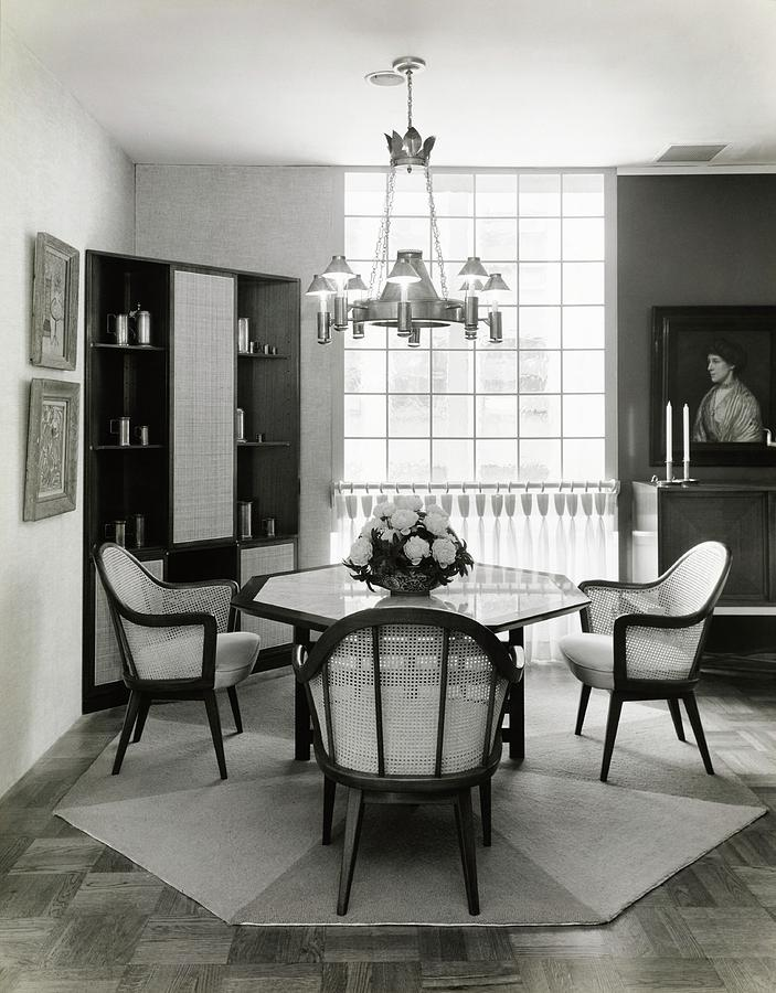 Dining Room Designed By John And Earline Brice Photograph by Tom Leonard