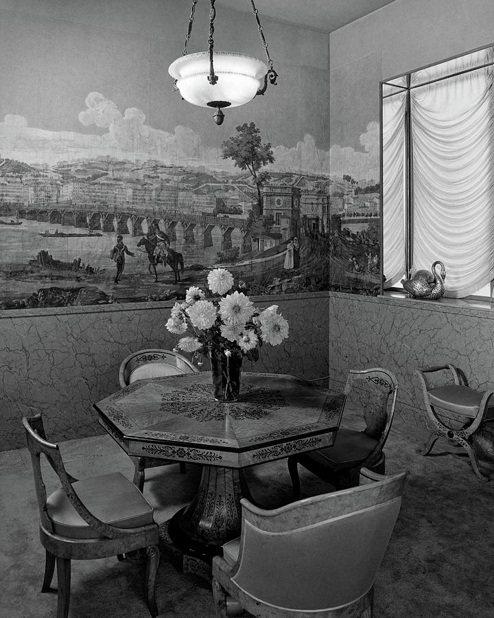 Dining Room In Helena Rubinsteins Home Photograph by F. S. Lincoln