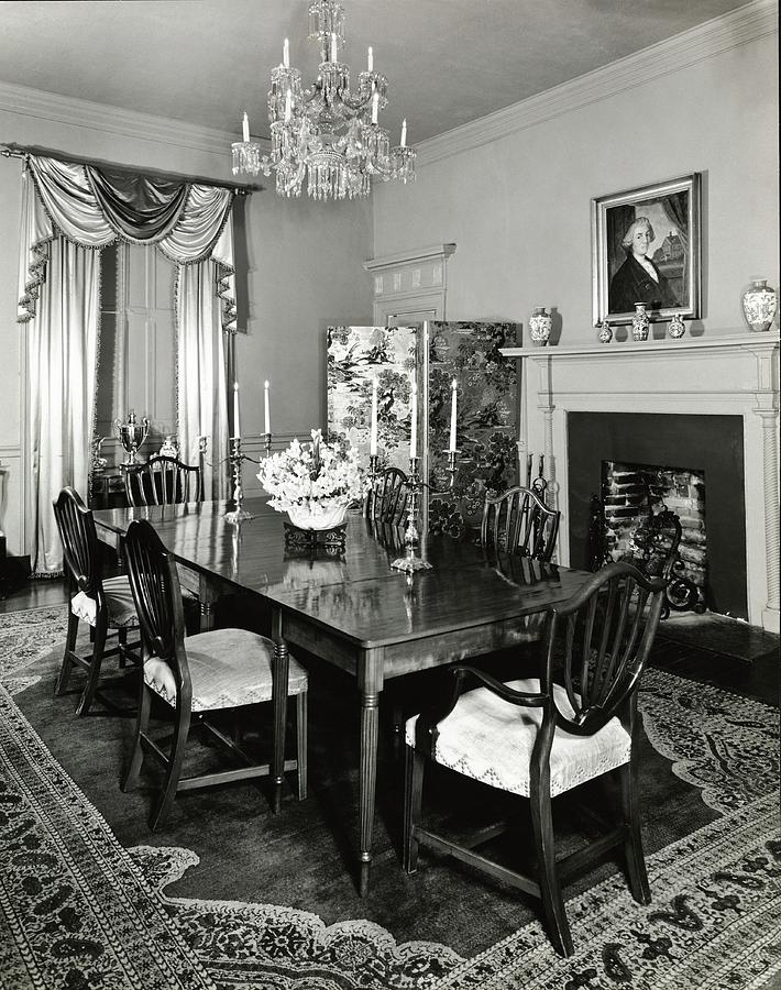 Dining Room Of Berkeley Plantation Photograph by Ralph Bailey