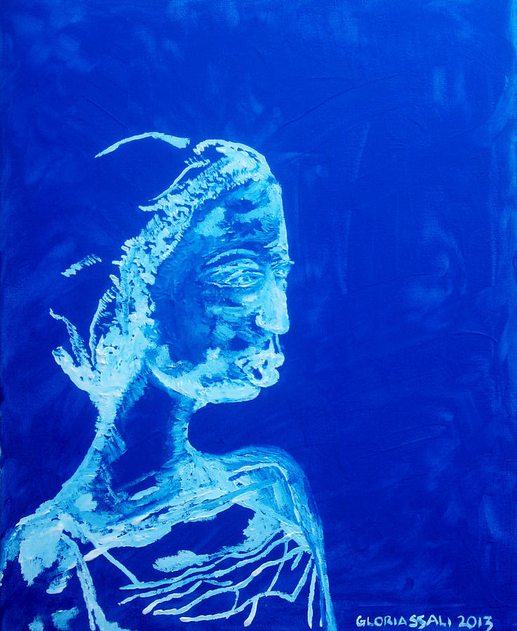 Jesus Painting - Dinka Painted Lady - South Sudan by Gloria Ssali