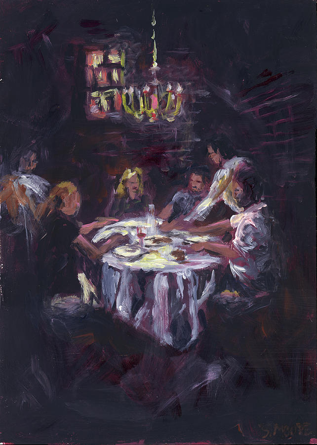 Food Painting - Dinner Party by Susan Moore