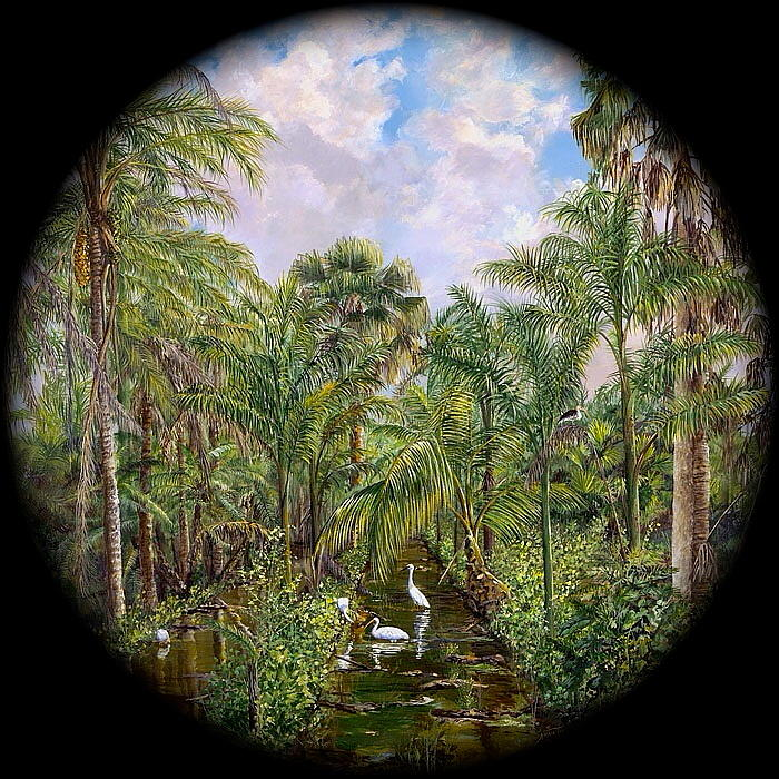 Tropical Trees Painting - Dinner Time by AnnaJo Vahle