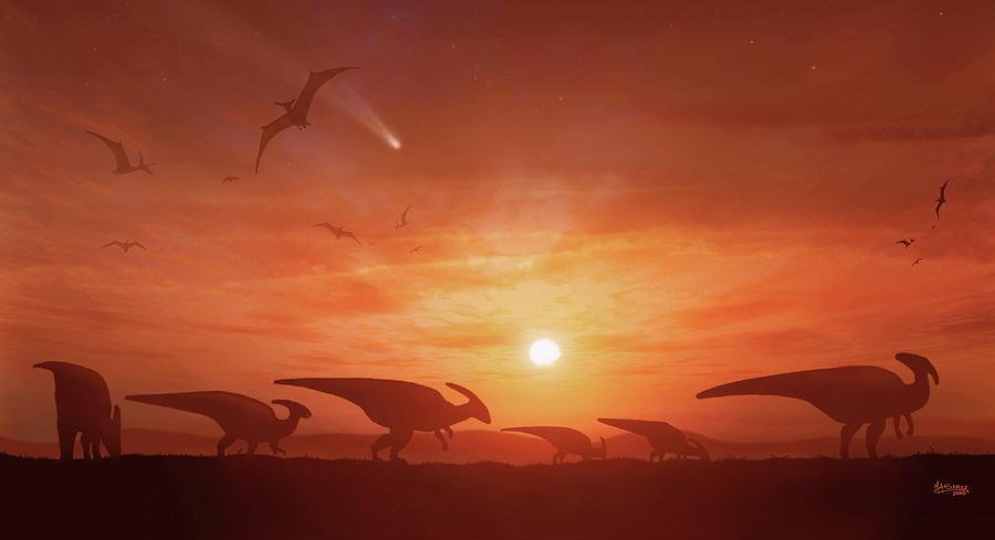 Dinosaur Photograph - Dinosaur Extinction by Mark Garlick/science Photo Library