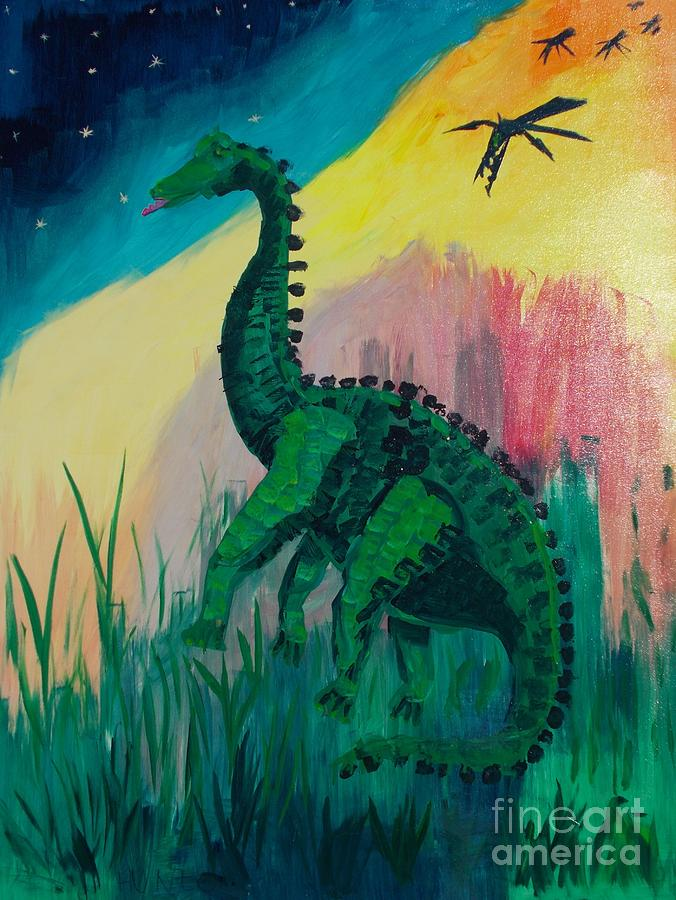 Anachronistic Painting - Dinosaur by PainterArtist FIN