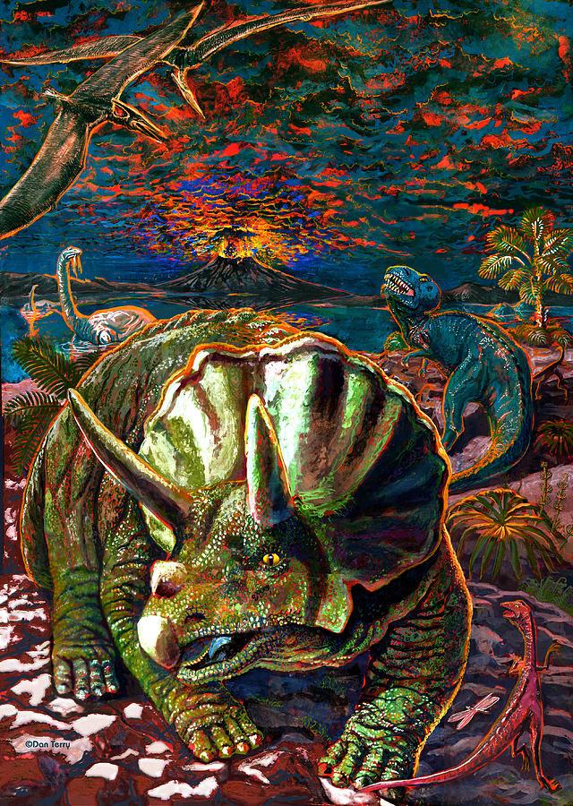 Dinosaur Painting - Dinosaurs by Dan Terry