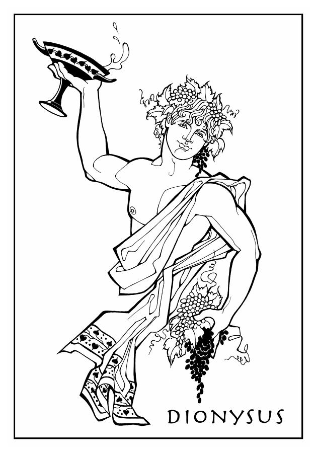 dionysus drawing by steven stines
