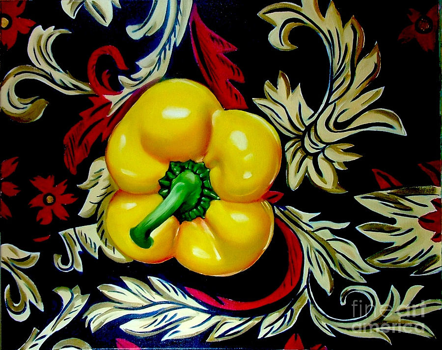 Hot Painting - Diors Pepper by Shelley Laffal
