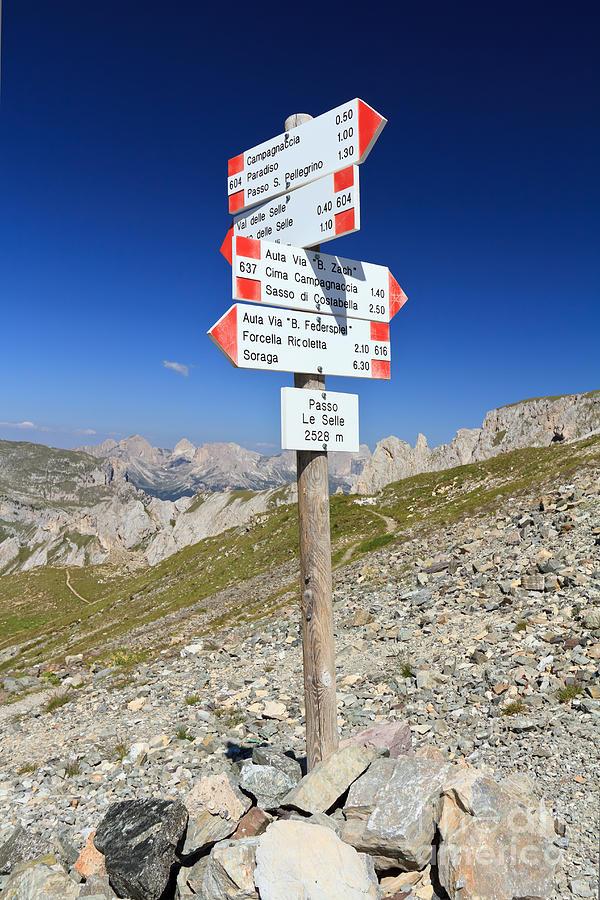 Alpine Photograph - Directions by Antonio Scarpi