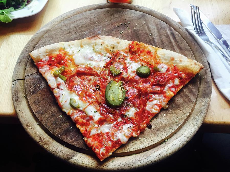 Directly Above Shot Of Pizza Slice Photograph by Svitlana Pavelko / Eyeem