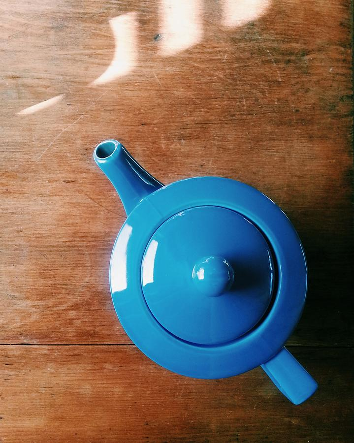 Directly Above Shot Of Teapot On Table Photograph by Timothy Kirman / Eyeem