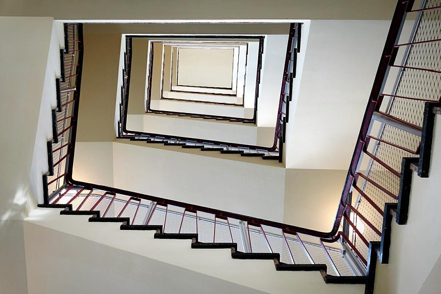Directly Below Shot Of Spiral Staircase Photograph by Joerg Fockenberg / Eyeem