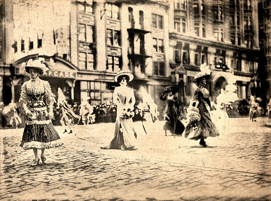 Gown Photograph - Directoire Gown - Philadelphia Mummers 1909 by Bill Cannon
