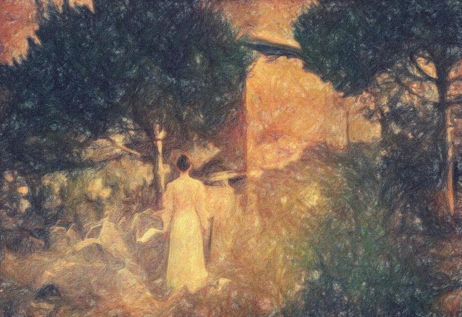 Impressionist Painting - Dirge For November by Taylan Apukovska