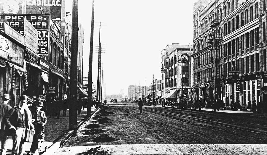 Spokane Photograph - Downtown Dirt Spokane C. 1895 by Daniel Hagerman