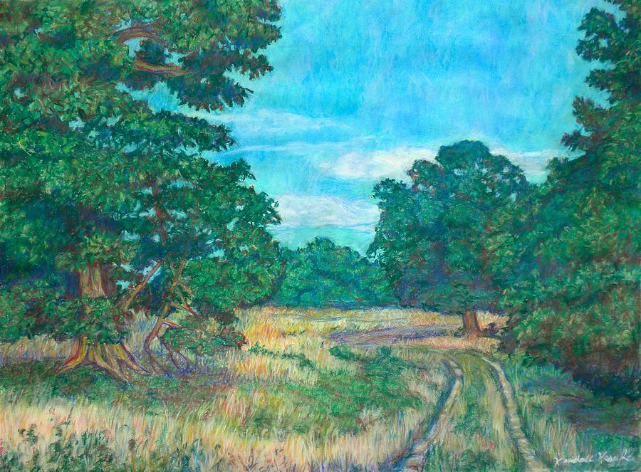 Landscape Painting - Dirt Road Near Rock Castle Gorge by Kendall Kessler