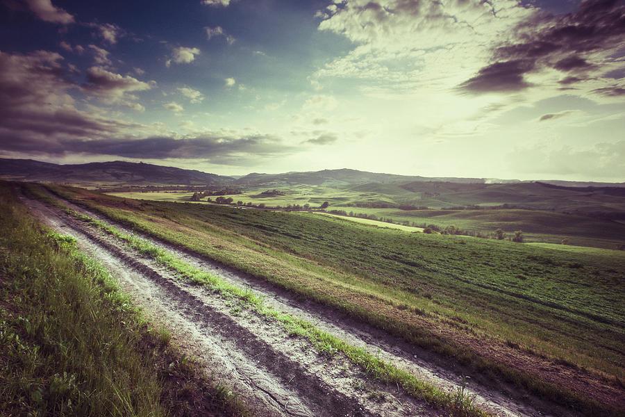 Dirt Track In Tuscany Photograph by Xavierarnau