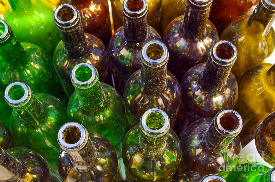 Abstract Photograph - Dirty Bottles by Carlos Caetano