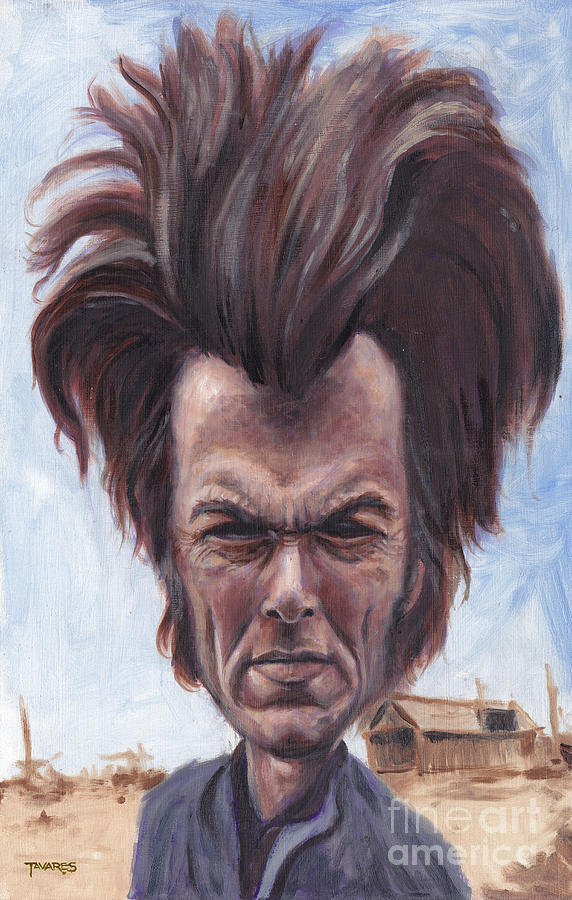 Clint Painting - Dirty Hairy by Mark Tavares
