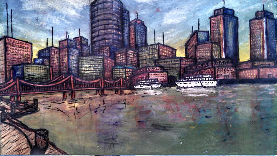 City Painting - Dirty Water by Michael Schimank