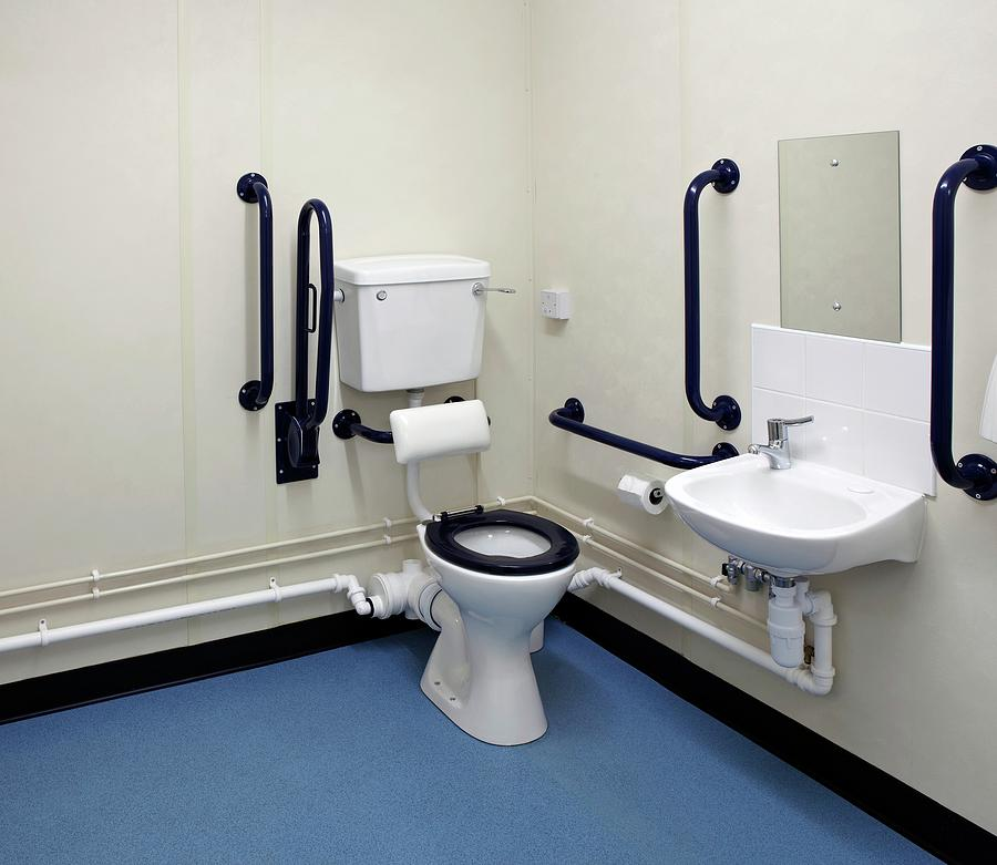Disabled Photograph - Disabled Washroom And Lavatory by Mark Sykes