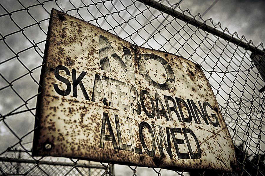 Sign Photograph - Disallowed by Caitlyn  Grasso