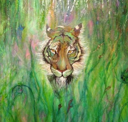 Tiger Painting - Disappearance by Kendra Sorum