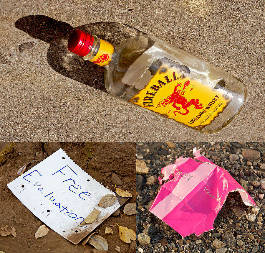 Triptych Photograph - Discarded Paradise 2013 by James Warren