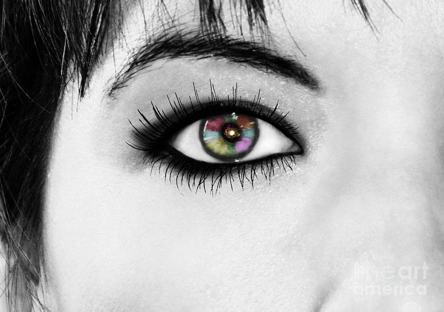 Eye Photograph - Discernment by Ester  Rogers