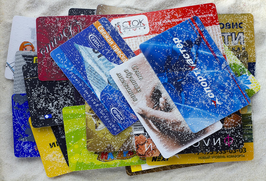 Card Photograph - Discount Russian cards under pressure of the American sanctions  by Aleksandr Volkov