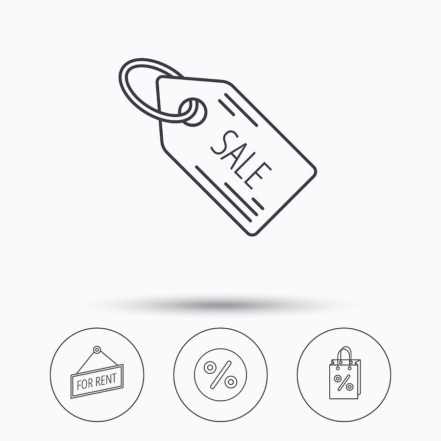 Discounts, Gift Bag And Sale Coupon Icons  by Tanya-stock