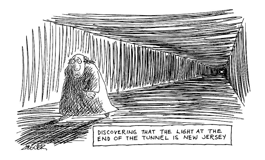 Discovering That The Light At The End Drawing by Jack Ziegler