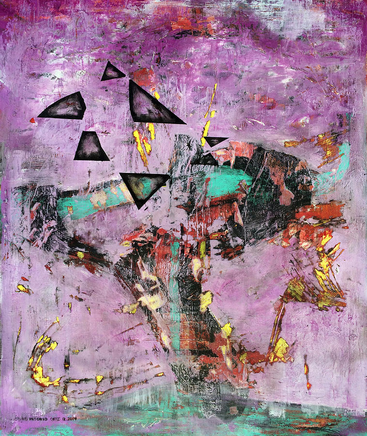 Abstract Expressionism Painting - Disfunction by Antonio Ortiz