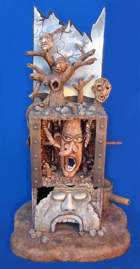 Sculpture Sculpture - Disgruntled Again by Stuart Swartz