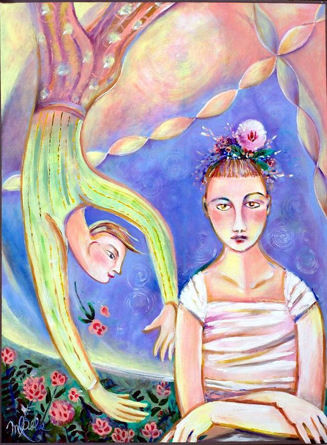 Ballerina Painting - Disgruntled Ballerina  by Marlene LAbbe