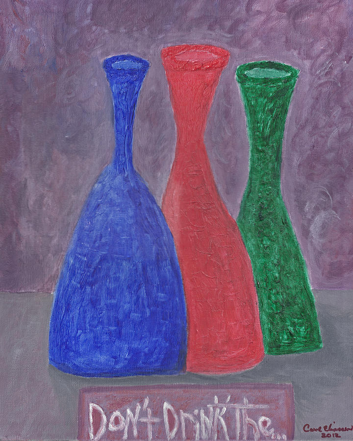 Blue Painting - Disillusion by Carol  Eliassen