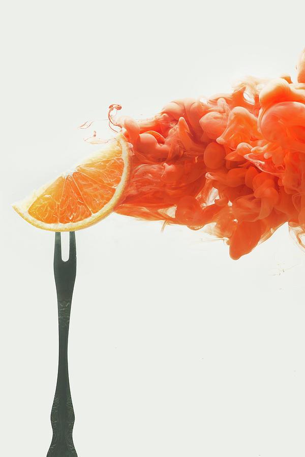 Disintegrated Orange Photograph by Dina Belenko Photography