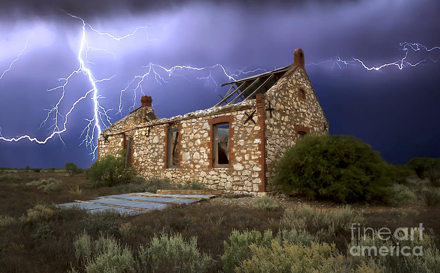 Lightning Photograph - Display Of Power by Shannon Rogers