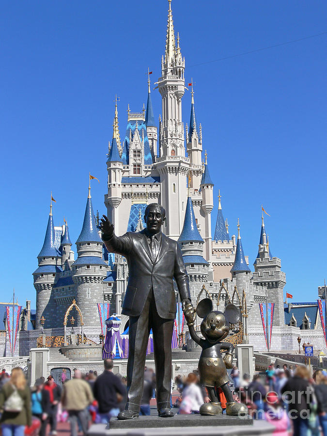 Walt Photograph - Disney And Mickey by Kevin Fortier
