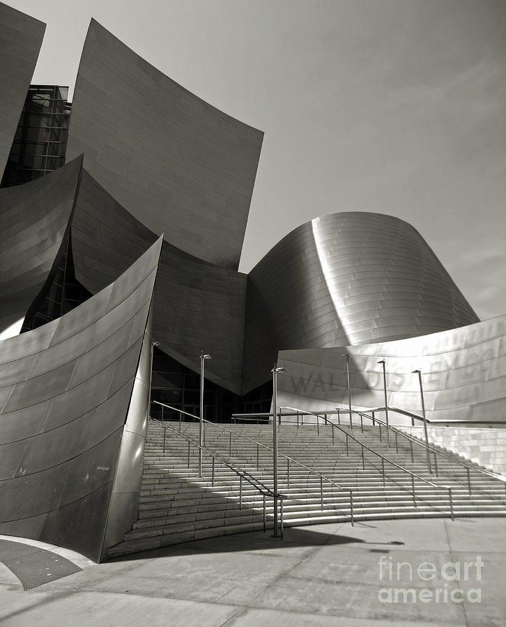 Disney Concert Hall Photograph - Disney Concert Hall by Gregory Dyer