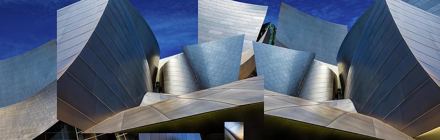 California Photograph - Disney Concert Hall-montage (color Version) by Ron Jones
