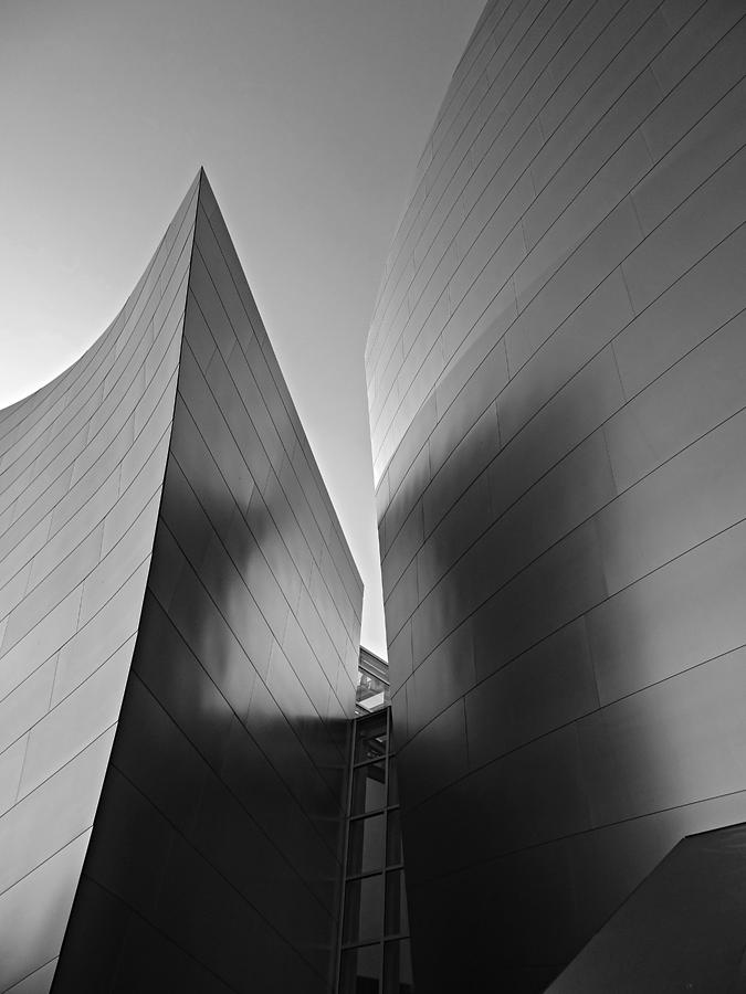 Architecture Photograph - Disney Hall by Eileen Shahbazian