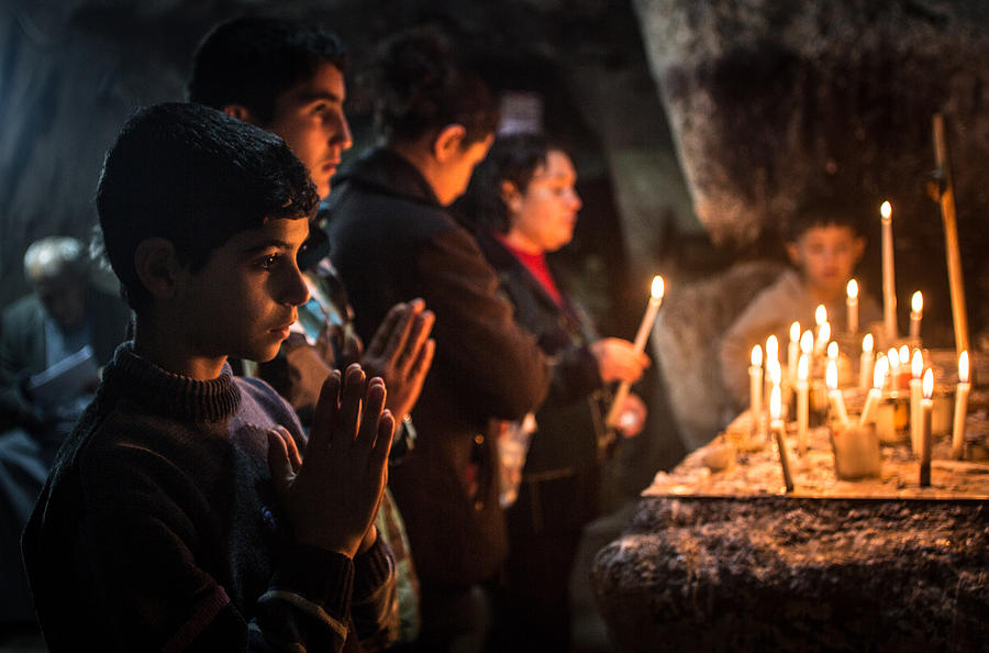 Displaced Christians Take Refuge In Erbil Photograph by Matt Cardy