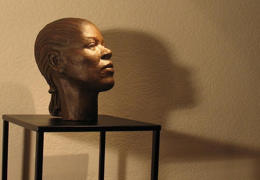 Head Sculpture - Display Sculpture - 2 by Flow Fitzgerald