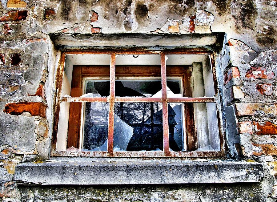 Window Photograph - Disrespected by Marianna Mills