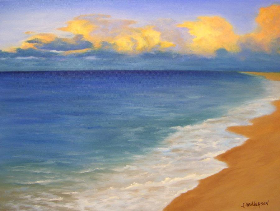Clouds Painting - Distant Clouds by Francine Henderson