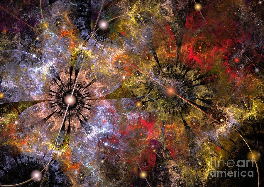 Cosmos Digital Art - Distant Cosmos by Svetlana Nikolova