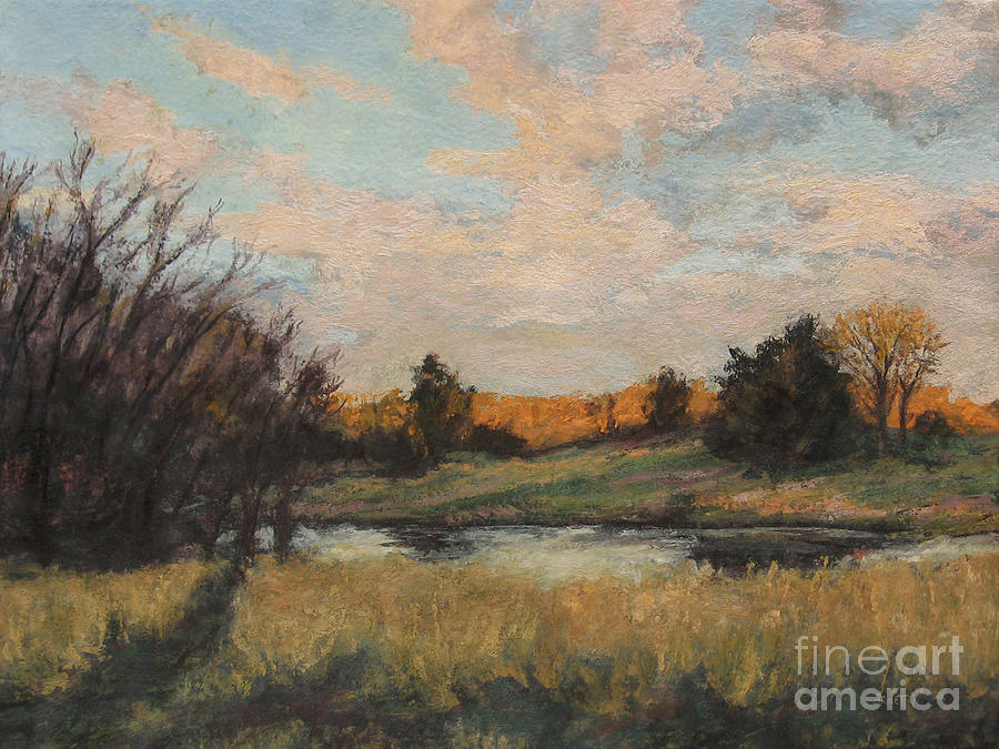 Autumn Glow Painting - Distant Glow by Gregory Arnett