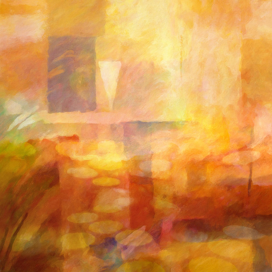 Abstract Painting - Distant Impressions by Lutz Baar