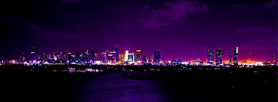 Panorama Photograph - Distant Lights by Michael Guirguis